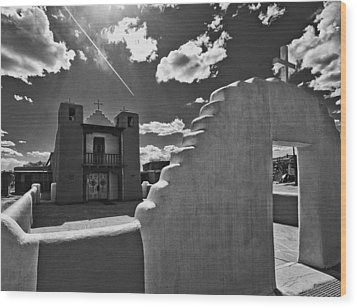 San Geronimo Chapel Taos Pueblo Wood Print