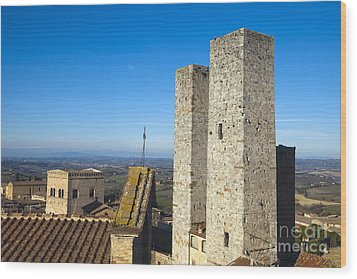 San Gimignano Wood Print by Andre Goncalves
