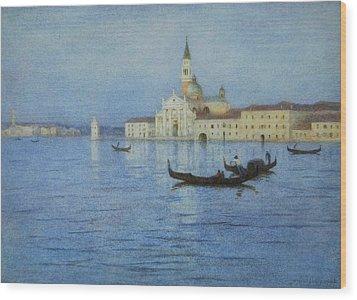 San Giorgio Maggiore Wood Print by Helen Allingham