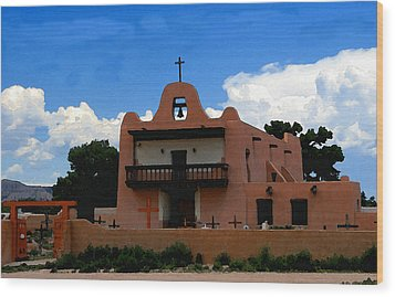 San Ildefonso Pueblo Wood Print by David Lee Thompson