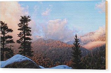 San Jacinto Mountains - California Wood Print by Glenn McCarthy Art and Photography