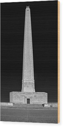 Wood Print featuring the photograph San Jacinto Star Black And White by Joshua House