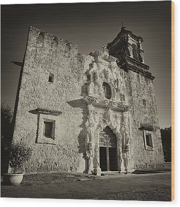 Wood Print featuring the photograph San Jose Mission - San Antonio by Stephen Stookey