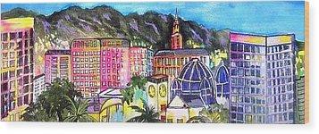 San Jose Skyline Wood Print