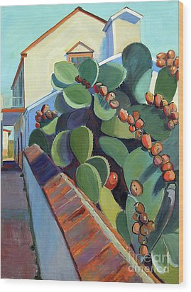 San Juan Bautista Prickly Pear Wood Print