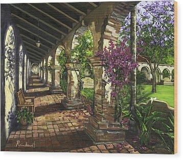 San Juan Capistrano Wood Print by Lisa Reinhardt