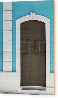 Wood Print featuring the photograph San Juan Door by Patrick Downey