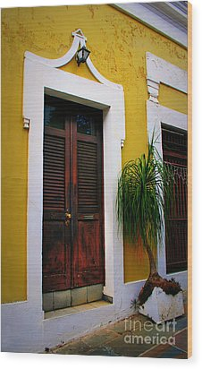 San Juan Doors Wood Print by Perry Webster
