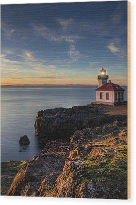 Wood Print featuring the photograph San Juan Island Serenity by Dan Mihai