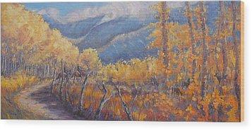 San Juan Mountain Gold Wood Print