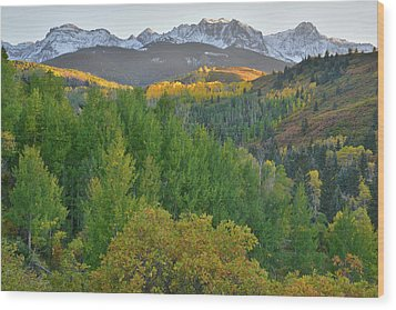 Wood Print featuring the photograph San Juan Mountain Sunset by Ray Mathis