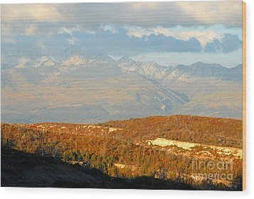 San Juan Mountains Wood Print by David Lee Thompson