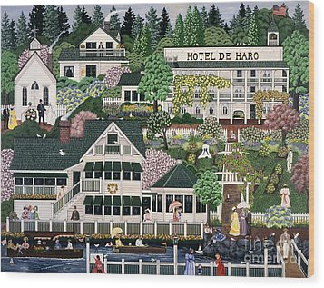 San Juan Roche Harbor Resort Wood Print