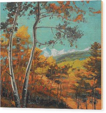 San Juan Shimmer Wood Print