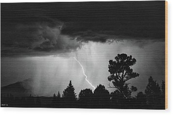 Wood Print featuring the photograph San Juan Strike by Kevin Munro