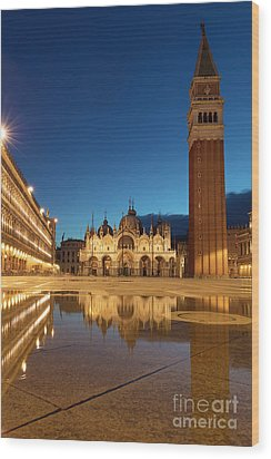 Wood Print featuring the photograph San Marco Twilight by Brian Jannsen