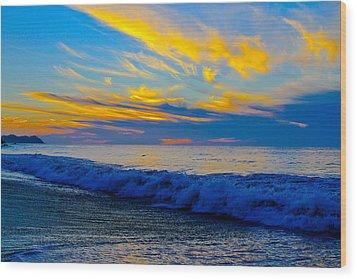 San Pancho Sunset Wood Print by Atom Crawford