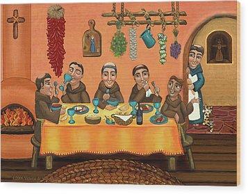 San Pascuals Table 2 Wood Print by Victoria De Almeida