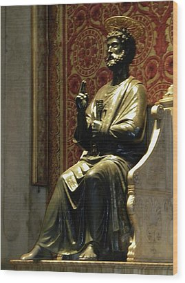 Wood Print featuring the photograph San Pietro by Manuela Constantin
