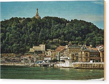 San Sebastian Spain Wood Print by Mary Machare