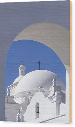 San Xavier Del Bac Wood Print by Sandra Bronstein