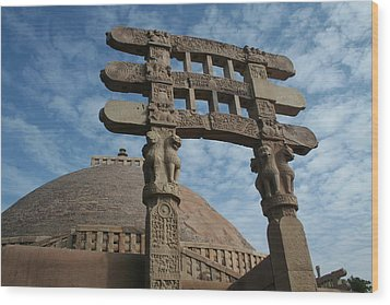 Sanchi Wood Print by Mohammed Nasir