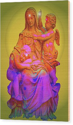 Sancta Maria No. 02 Wood Print by Ramon Labusch