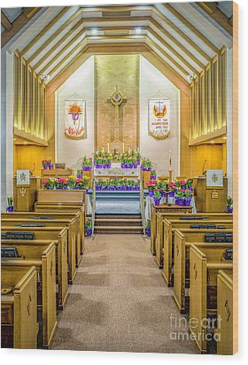 Wood Print featuring the photograph Sanctuary At Easter by Nick Zelinsky