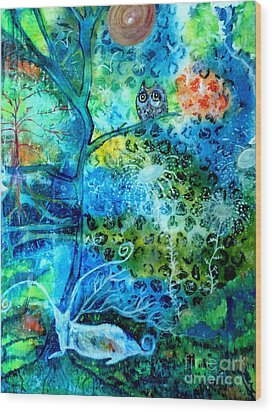 Wood Print featuring the painting Sanctuary by Julie Engelhardt
