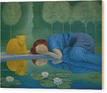 Wood Print featuring the painting Sanctuary by Tone Aanderaa
