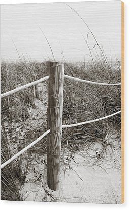 Sand And Grass Wood Print by Julie Palencia