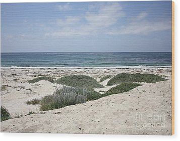 Sand And Sea Wood Print by Carol Groenen
