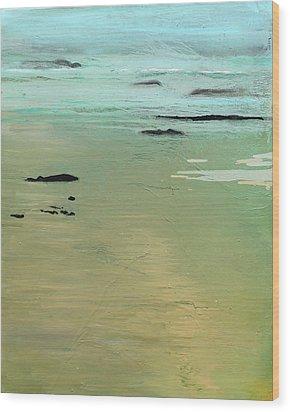 Sand And Sea Wood Print by Ethel Vrana