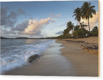 Wood Print featuring the photograph Sand And Sea by Patrick Downey