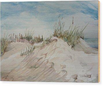 Sand And Sky Wood Print by Dorothy Herron