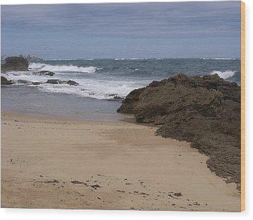 Sand And Surf San Juan Wood Print by Anna Villarreal Garbis