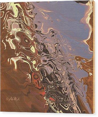 Sand Bank Wood Print by Alika Kumar
