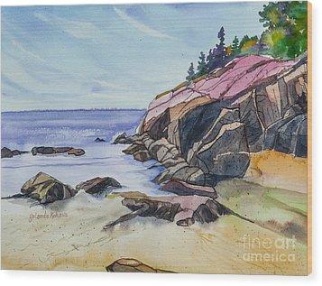 Sand Beach I Wood Print