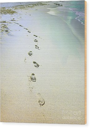 Wood Print featuring the photograph Sand Between My Toes by Betty LaRue