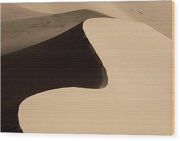 Sand Wood Print by Chad Dutson