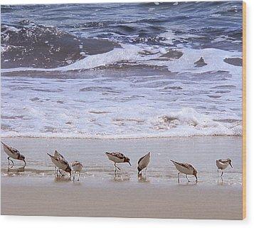 Sand Dancers Wood Print