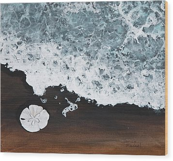 Wood Print featuring the painting Sand Dollar by Darice Machel McGuire