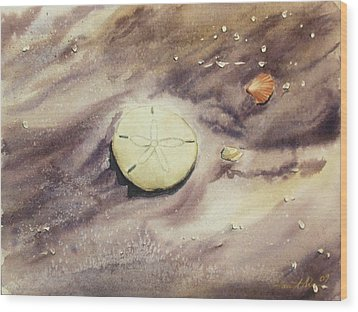 Sand Dollar Wood Print by Lane Owen