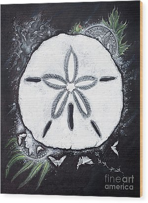 Sand Dollars Wood Print by Scott and Dixie Wiley