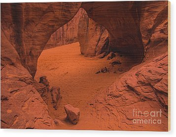 Wood Print featuring the photograph Sand Dune Arch - Arches National Park - Utah by Gary Whitton