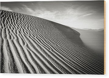 Sand Dune Wood Print by Marius Sipa