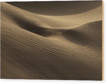 Sand Dune Wood Print by Phil Crean