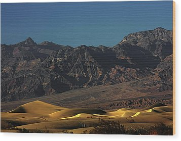Sand Dunes - Death Valley's Gold Wood Print by Christine Till