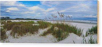 Sand Dunes And Blue Skys Wood Print