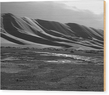 Sand Dunes Of The Gobi Wood Print